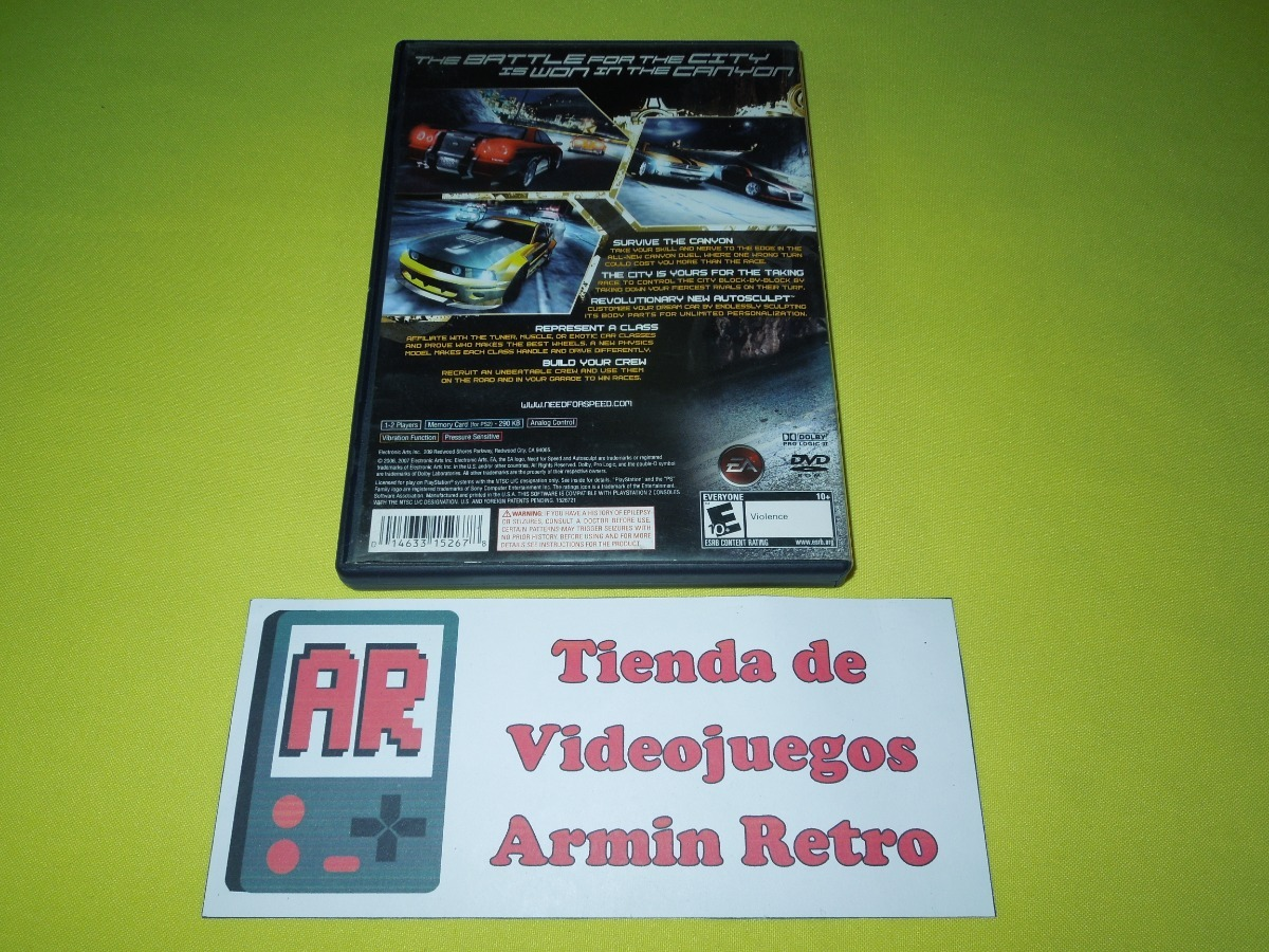 Need For Speed Carbon Ps2 *1-2 Jugadores* *greatest Hits* - $ 380 00