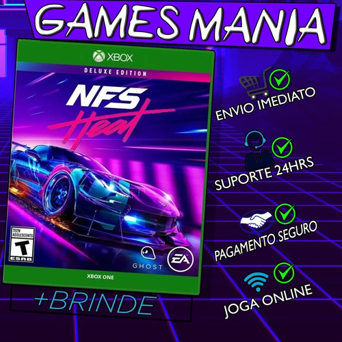 need for speed heat xbox one + 2 brindes
