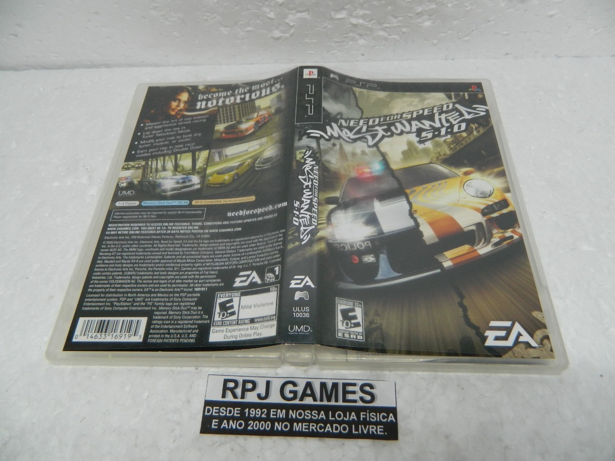 Need For Speed Most Wanted Original Completa P/ Psp Loja Rj