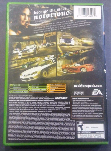 need for speed most wanted xbox envio gratis