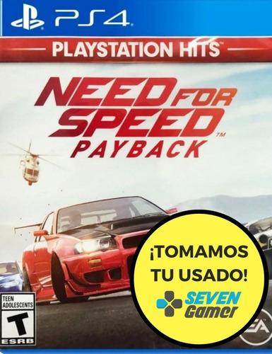 need for speed payback ps4 juego fisico sellado nuevo