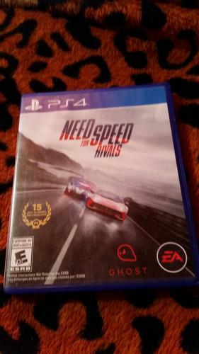 need  for speed  rivals juego original de play 4