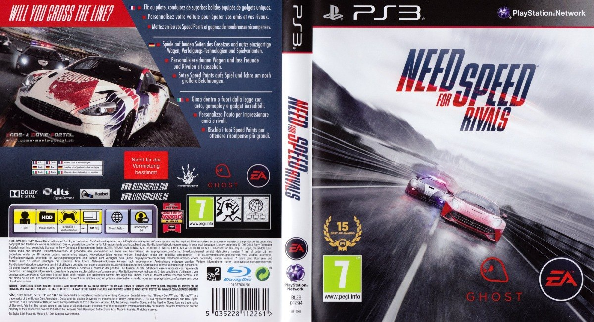 Need For Speed Rivals Ps3 Fisico