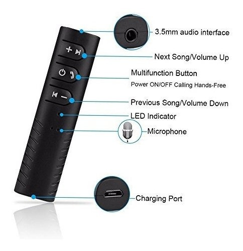 neego 35 mm aux inalambrico bluetooth 42 auriculares auricul