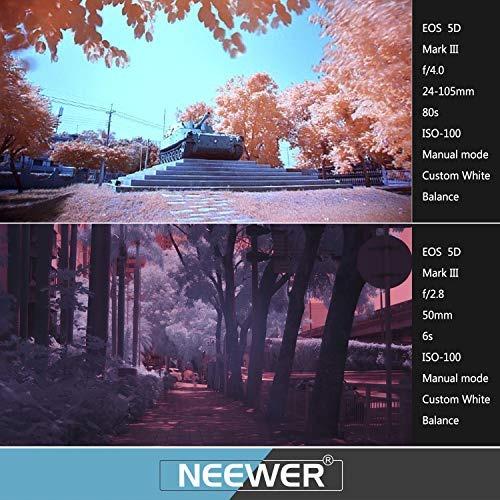 neewer® 4piezas por infrarrojos ir juego de filtros de rayo