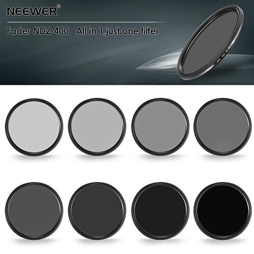neewer 58mm ultra slim nd2-nd400 fader densidad neutral, fil