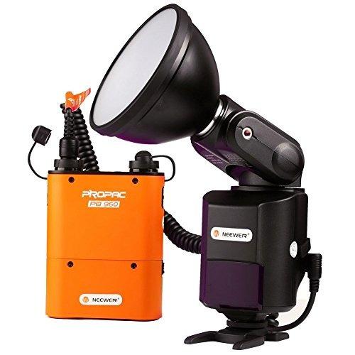neewer ad-360 360w external portable flash light speedlite w