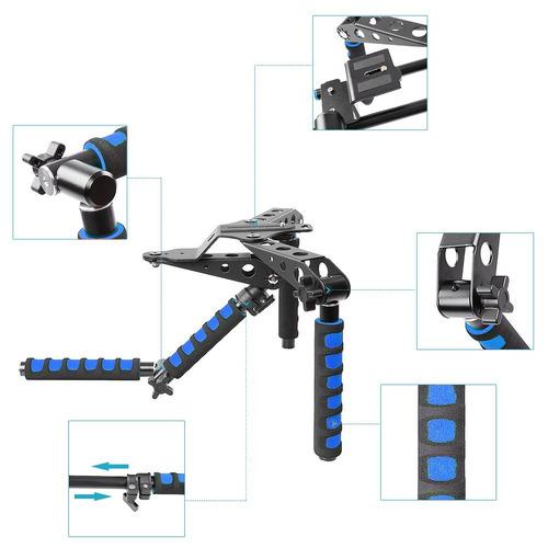 neewer aleación de aluminio plegable dslr rig movie kit sist