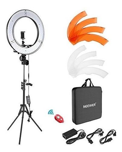 neewer aro de luz foto y video kit 18 pulgadas