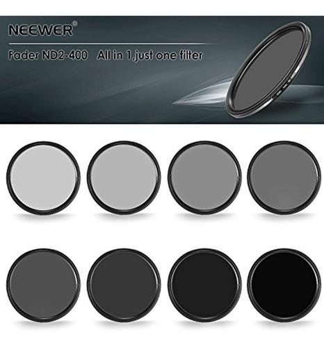 neewer filtro ultra delgado nd2-nd400 de  58 mm