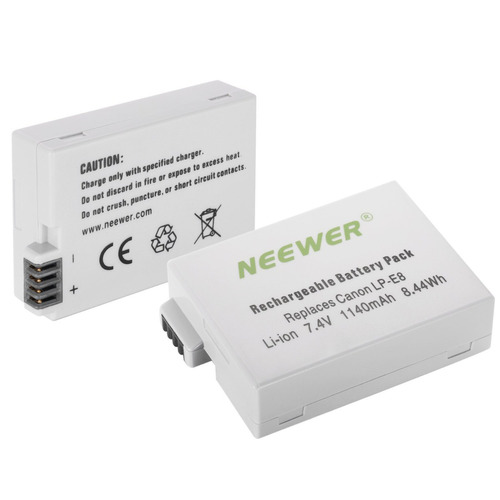 neewer kit baterias y cargador dual lp-e8