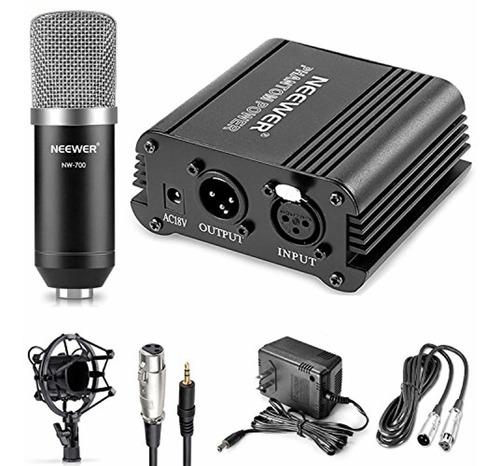 neewer microphone  x26amp  phantom power