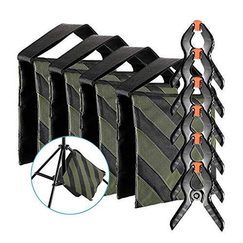 neewer paquete de 4 fotografía la bolsa de arena ( negro /