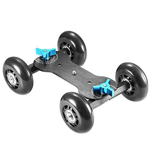 neewer tableta móvil con control deslizante móvil dolly car
