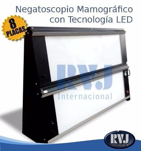 negatoscopio mamográfico .de l e d .para 8 películas