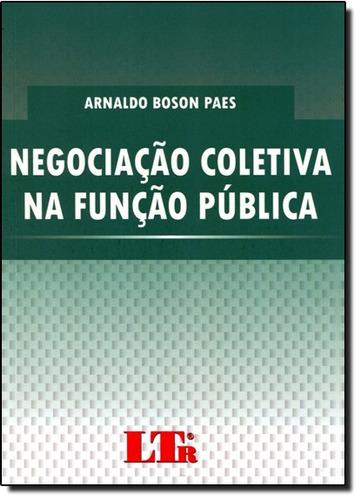 negociacao coletiva na funcao publica de paes arnaldo boson