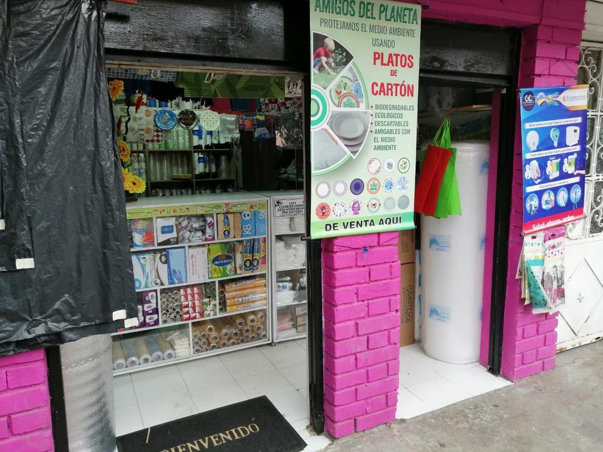 negocio acreditado de venta de plasticos y desechables