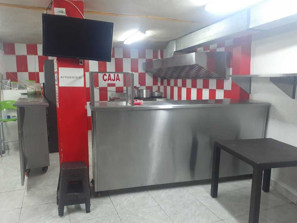 negocio de comidas rápidas y restaurante bien ubicado