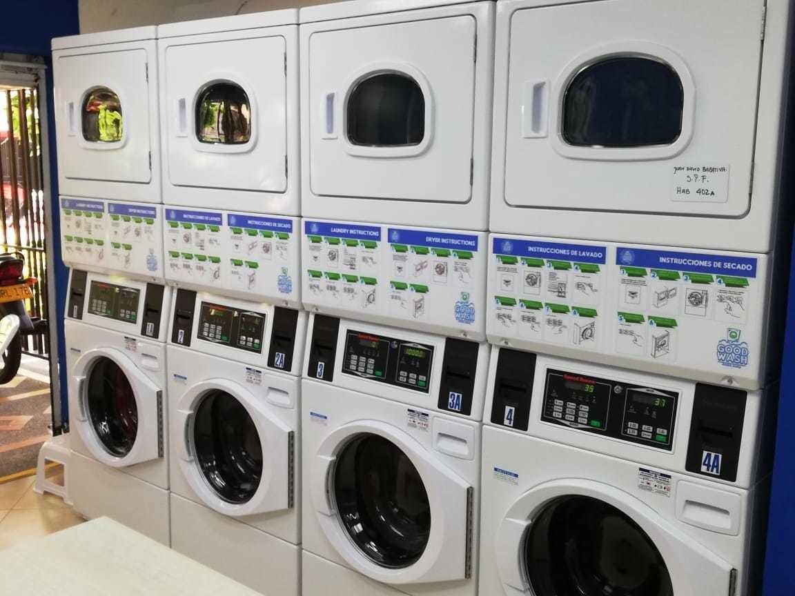 negocio de lavanderia autoservicio.
