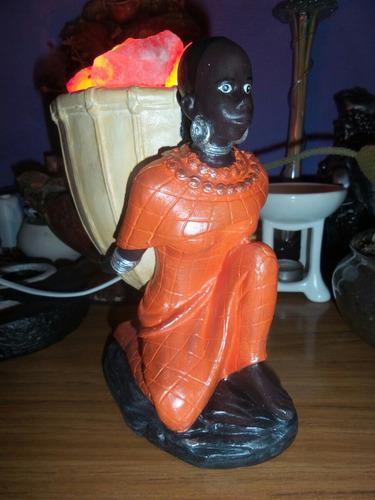 negra africana. lampara de sal buda elefante bruja