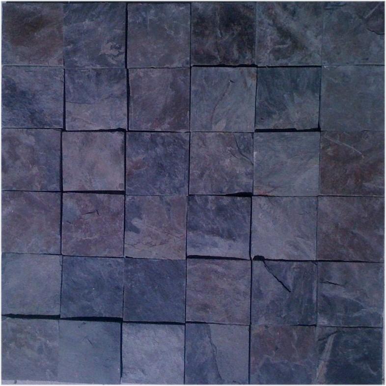 Negra mixteca piedra laja natural en malla 30x30 cm pza for Lajas de piedra natural