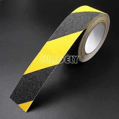 negro amarillo 4  x 33' anti slip cinta pisada de escalera a