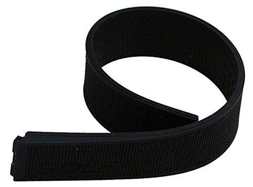 negro caucho de silicona watch band para encajar tag heuer