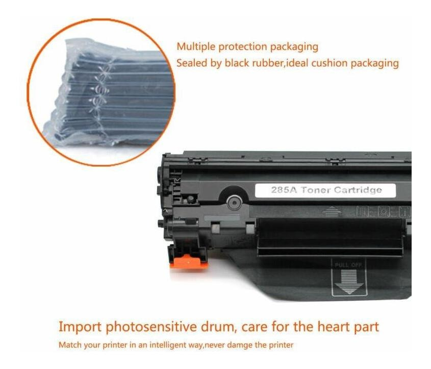 10 x CE285A Black Toner Cartridge 85A Compatible HP LaserJet P1102W M1217nfw MFP