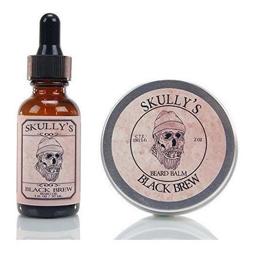 negro de la skully brew kit de 1 oz y balsamo para barba 2 o
