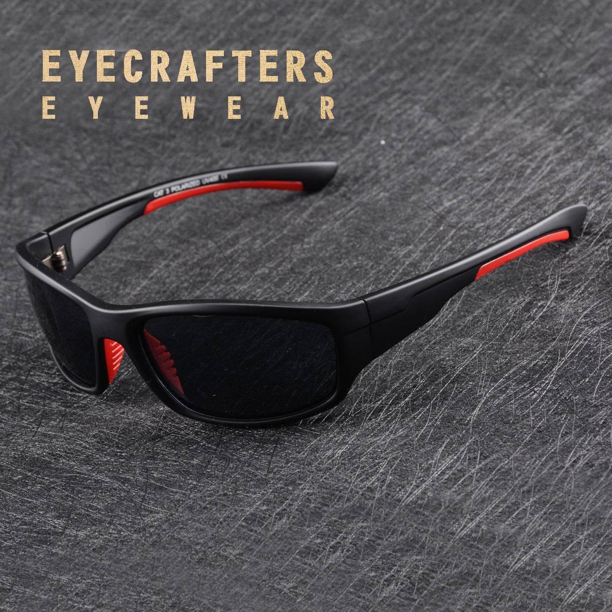 f15a5615f5 negro polarizado deporte gafas de sol para hombre al aire. Cargando zoom.