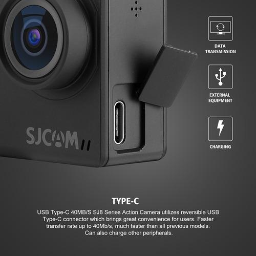 negro sjcam sj8 pro acción cámara 4k / 60 fps wifi deporte