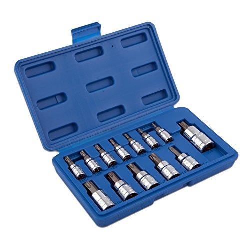 neiko 10071a torx bit socket set, t8 - t60, s2 steel | set d