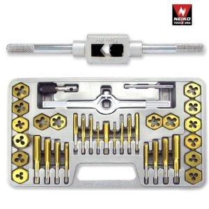 neiko titanium 40 piezas coated tap & hexágono die set - mét