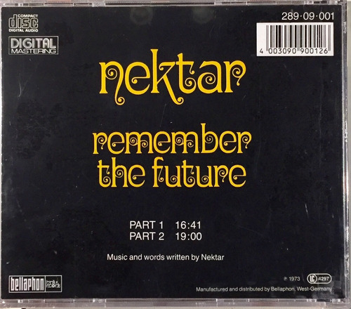 nektar - remember the future - cd importado germany lacrado