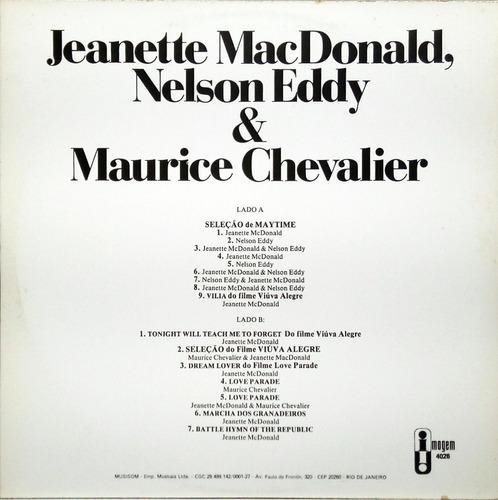 nelson eddy jeanette macdonald chevalier lp trilhas 13440