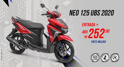 neo 125 ubs automática - 2020 - taxa zero ou zero entrada