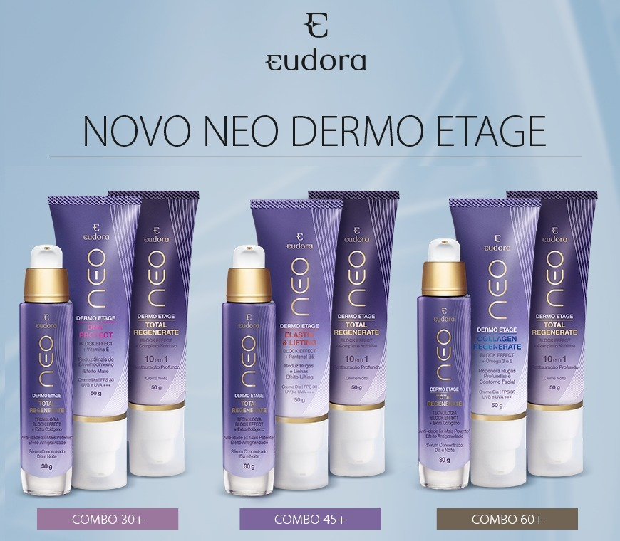 Neo Dermo Etage Combo +60 Collagen Regenerate (kit 3 Itens)  - R ... bb89d43186556