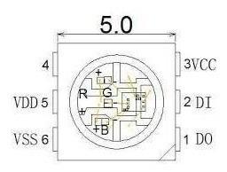 neo pixel led rgb ws2812 5050 smd arduino