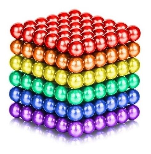 neocube buckyballs 216 esferas 5 mm iman neodimio colores
