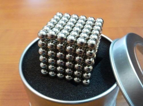 neocube cubo magnético 216 esferas prateado imã neodímio 5mm