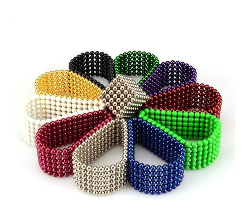 neocube neodimio buckyballs multicolor 216 esferas 5mm iman