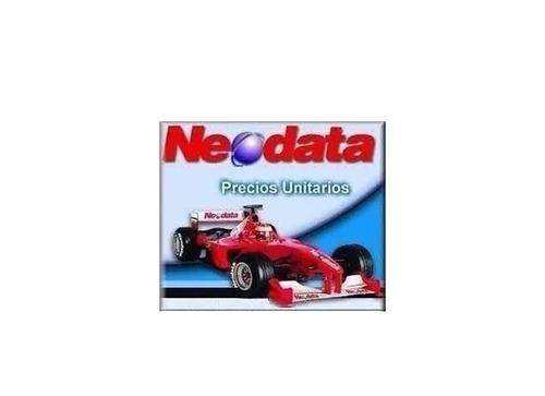 neodata 2009 matrices precios unitarios sct carreteras+regal