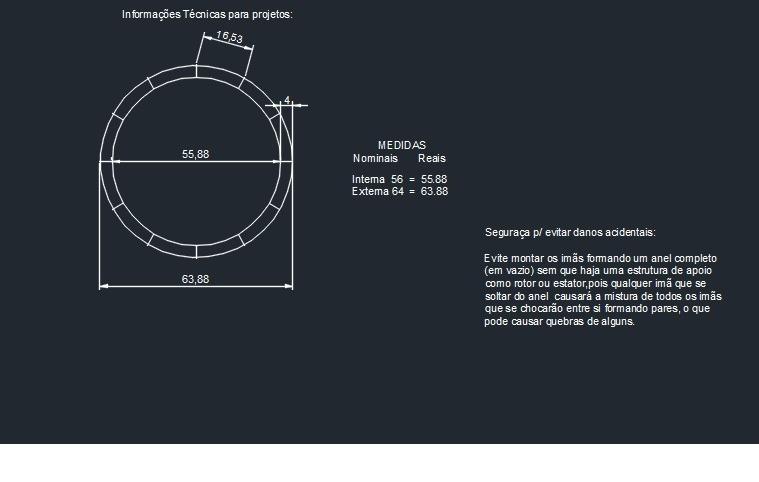 64b09c9b4dd Neodimio Curvo N45h Motor gerador 1