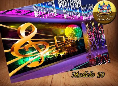 neon beatles & rock music - papel arroz comestível modelos