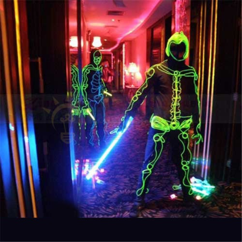 neon led luz coche resplandor el alambre cadena tira cuerda