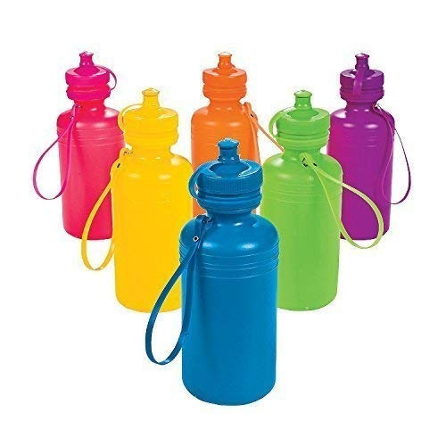 neon sport water bottles 1 docena de juguetes a granel