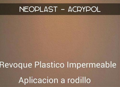 neoplast revoque plastico con color x 25kgs - similar revear