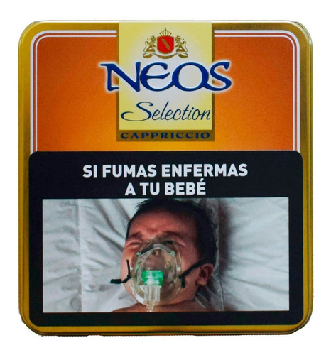 neos mini x10 puritos capriccio café cigarros puros lata
