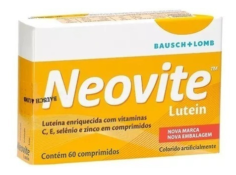 neovite lutein com 60 comprimidos original com 2 caixas