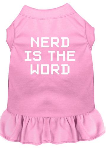 nerd es el vestido impresión pantalla palabra luz rosa lg (